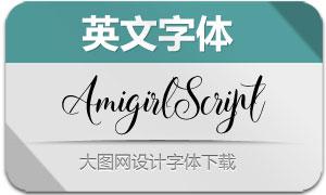 AmigirlScript(英文字体)