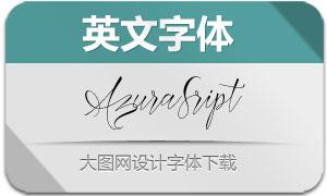 AzuraSript(英文字体)