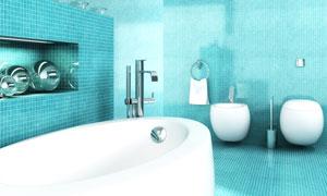 卫生间内景一角装饰效果图高清图片