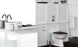 洗手间内卫浴设施渲染效果高清图片