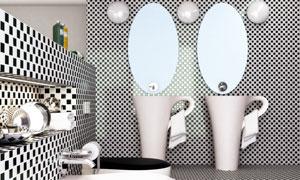 卫生间马桶与洗手台等渲染效果图片