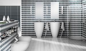 卫浴设施与淋浴房渲染效果高清图片