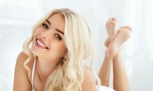 金发性感美女模特写真摄影高清图片