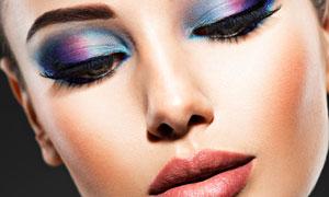 炫彩效果眼妆美女人物摄影高清图片