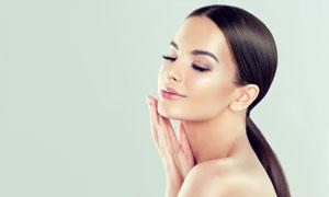 肌肤护理主题柔顺秀发美女高清图片