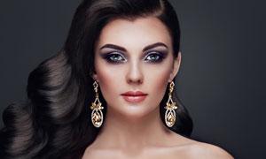 浓密秀发美女人物写真摄影高清图片