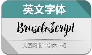 BruseloScript(英文字体)