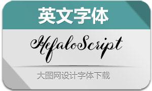 HefaloScript(英文字体)