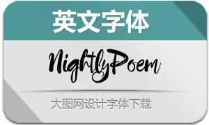 NightlyPoem(英文字体)