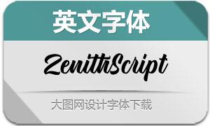 ZenithScript(英文字体)
