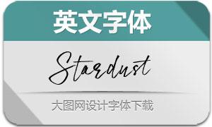 Stardust系列四款英文字体