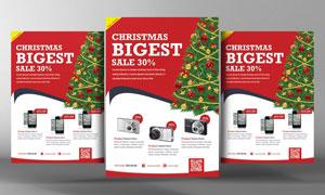 圣诞节数码科技产品海报设计源文件