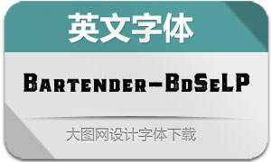 Bartender-BoldSerifLP(英文字体)