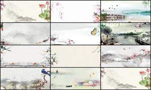 12款中国风主题淘宝海报背景大红鹰娱乐备用网