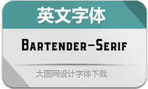 Bartender-Serif(英文字体)