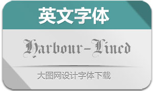 Harbour-Lined(英文字体)