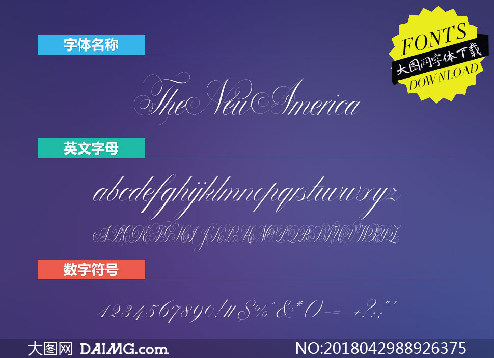 TheNewAmerica(英文字体)
