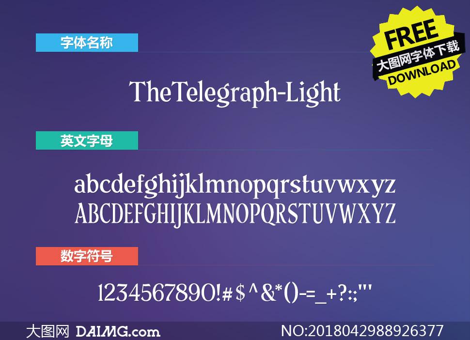 TheTelegraph-Light(英文字体)