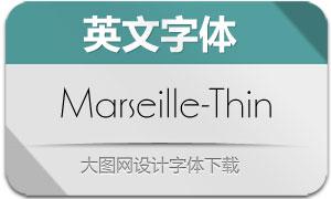 Marseille-Thin(英文字体)
