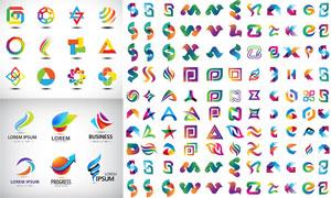 多款抽象图案元素标志创意矢量素材
