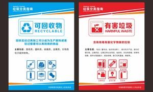 垃圾分類指南海報設計矢量素材