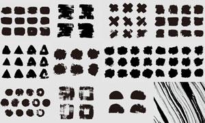 黑色墨迹涂抹效果蒙版边框矢量素材