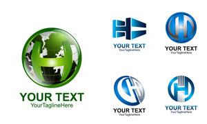 蓝色的科技感标志创意设计矢量素材