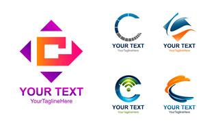 英文字母形状标志创意设计矢量素材