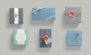 包装精美的礼物盒应用展示贴图模板