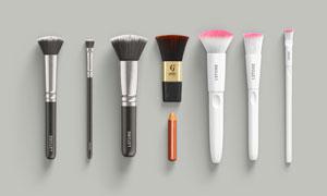 化妆适用的毛刷应用展示贴图源文件