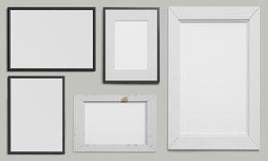 室内装饰画框效果展示贴图模板文件