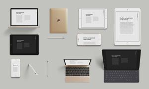 多款Apple数码产品贴图模板源文件