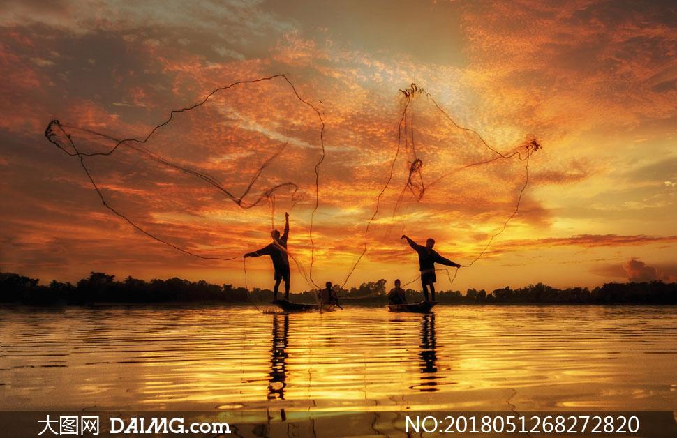 高清图片 自然风景 > 素材信息                          群山与水边