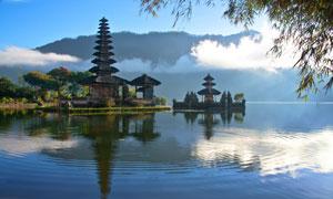 巴厘岛水神庙景观风光摄影高清图片