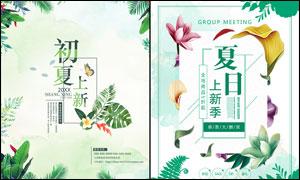 夏日上新季活动海报设计PSD素材
