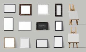 画架与室内装饰画应用贴图分层模板