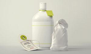 吊牌布袋与瓶子效果展示贴图源文件