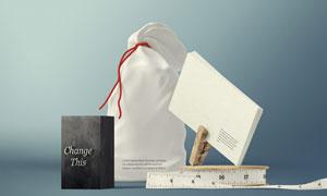 布袋与商务名片等效果展示贴图模板