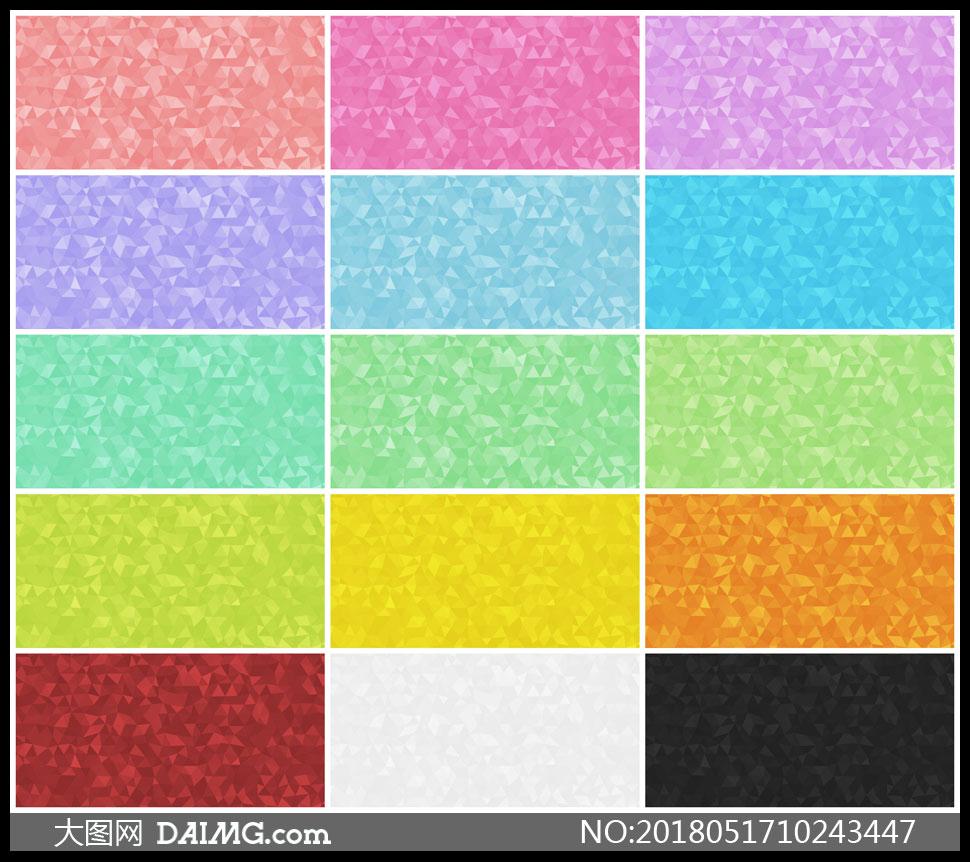 15张多彩效果低多边形背景高清图片