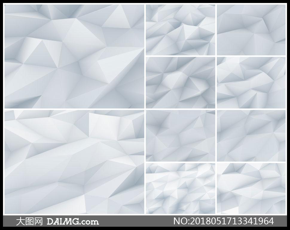 银灰色的低多边形背景创意高清图片