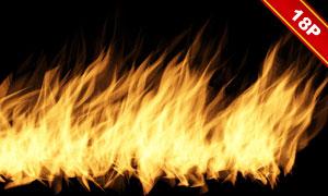 熊熊燃烧的火苗等图层叠加高清图片