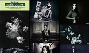 中文版时尚人像黑白艺术效果PS动作