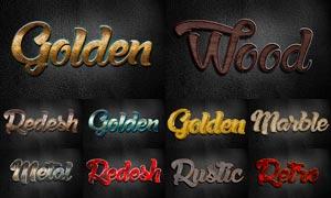 10款金属质感艺术字设计PS样式