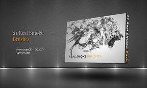 21款高清晰烟雾装饰PS笔刷