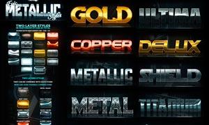 超酷的金属质感艺术字PS样式
