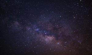 繁星閃爍夜空自然風光攝影高清圖片