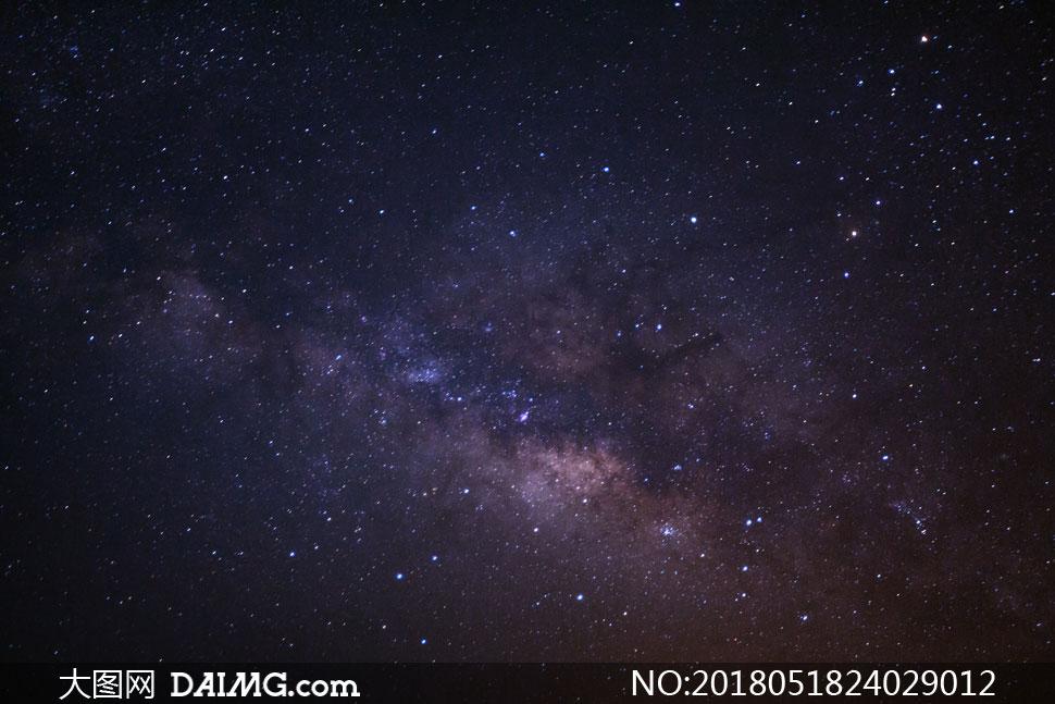 繁星闪烁夜空自然风光摄影 澳门线上必赢赌场