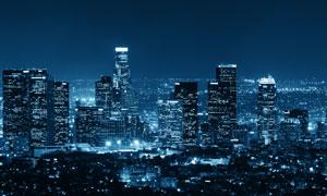 繁华都市夜晚美景风光摄影高清图片