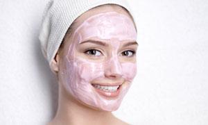 开心笑容护肤美女人物摄影高清图片