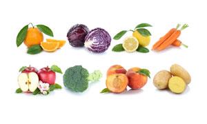 土豆甘蓝与苹果等蔬果摄影高清图片